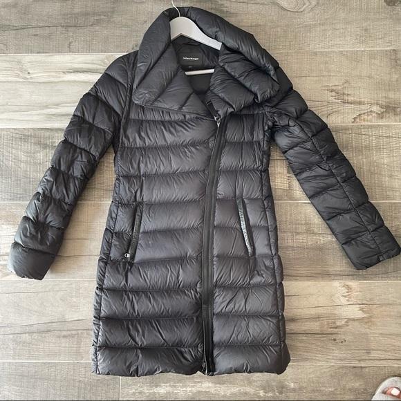 Mackage Yara black lightweight down coat